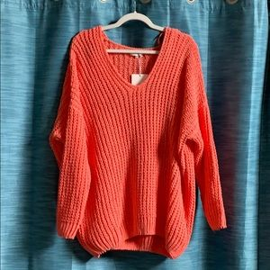 Light weight coral sweater